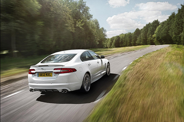 New optional Speed Pack for XFR includes suspension and aerodynamic enhancements and unlocks a higher top speed capability (from 155 mph to 174 mph)