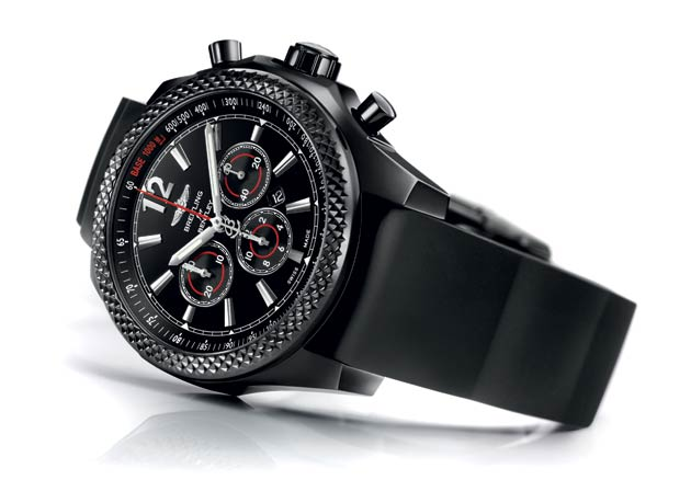 Bentley Barnato 42 Midnight Carbon Watch - A black-clad sports model