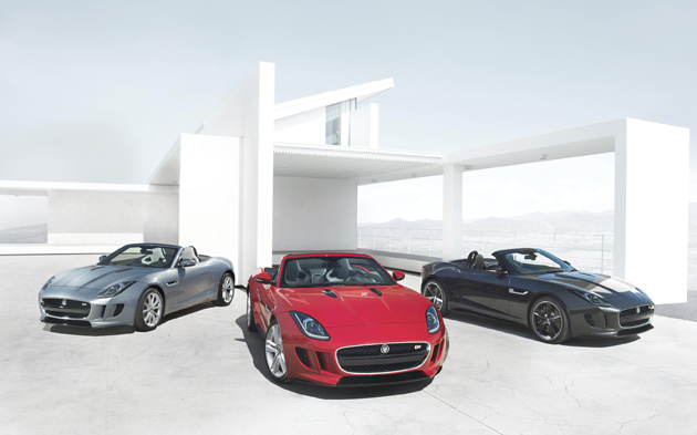 The All-new Jaguar F-TYPE is revealed at Musée Rodin Museum in Paris