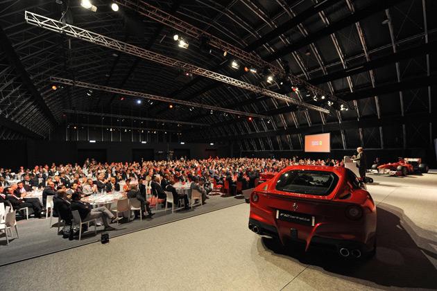 Ferrari honours Webasto & Eligio Re Fraschini. The Winners take to the track with Alonso and Massa.