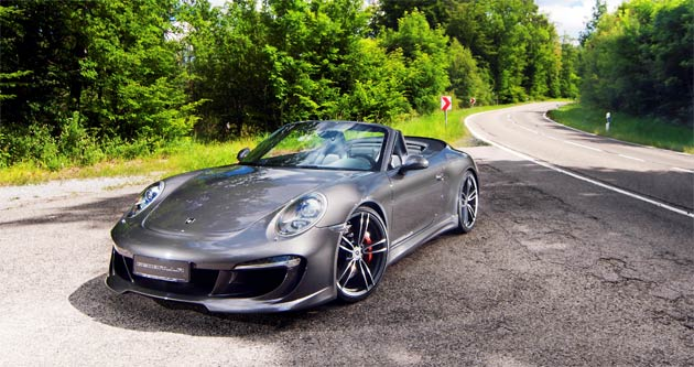 "The new '991' Carrera Cabriolet is the latest ""air-cooled"" 911 to stir the Porsche driver's emotions with its familiar flat-six soundtrack. Now, the new GT aerodynamic package from the German tuner, Gemballa, compliments the al fresco experience by taking the Cabriolet's visual appeal to the next level."