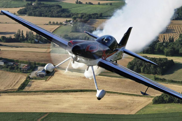 The XtremeAir XA41 is a new carbon fibre aircraft that is fast becoming the choice of aircraft for air display and competition pilots throughout the UK.  It is the superb power to weight ratio of the XA41, which is comparable to a Formula One race car and Gerald's imaginative freestyle technique that creates such a dynamic display, demonstrating why Gerald is currently ranked as seventh in the world for competition aerobatics and has been the British Aerobatic Champion at Unlimited level for the past three years.