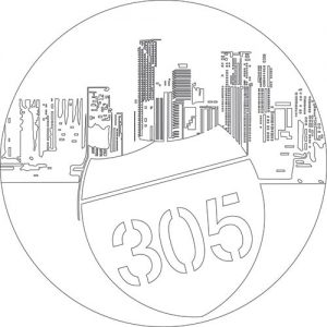 "Engraved with the number ""305"", the city's famous area code, and sporting white and ocean blue to evoke the sand and sea of South Florida, the King Power Miami ""305"" is a special edition limited to just 50 pieces, specially developed to honour ""The Gateway to the Americas"". This 48 mm-diameter watch, made from King Gold (18 carat gold with 5% platinum which lends it its distinctive red colour) is equipped with a HUB4214 mechanical self-winding skeleton chronograph movement, formed of 257 components, which oscillates at a frequency of 28,800 vibrations/hours and boasts a power reserve of approximately 42 hours."