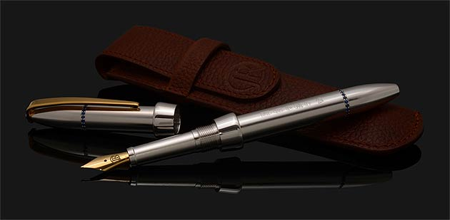 """Jack is also launching his more affordable City Collection. Concerning his philosophy behind this range, Jack explained; """"Each pen is handcrafted from solid sterling silver and is stylishly minimalist, yet discreetly defined with precious gemstones such as diamonds, rubies and sapphires. These luxury writing instruments will appeal to the discerning city professional who requires everyday practicality, and that added 'wow factor'."""