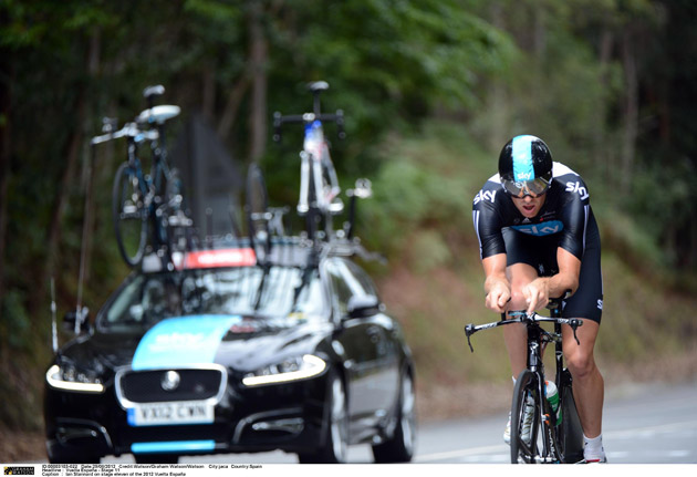 The partnership between Team Sky and Jaguar reconvenes for the UK's biggest professional cycling race, following the outright win for Team Sky rider Bradley Wiggins in the recent Tour de France. A Team Sky support crew will drive the Jaguar XF Sportbrake behind a team that includes high-profile British riders Chris Froome, Bradley Wiggins, Mark Cavendish and Luke Rowe.