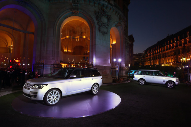 Paris was the first major international show appearance for the all-new Range Rover with its public show debut supported by an exclusive celebration of its status as an international design icon. Land Rover's motor show stand over the two press days featured the complete new Range Rover line-up, with both Vogue and Autobiography versions, and the full powertrain range. This sees the 3.0 TDV6 diesel engine made available in Range Rover for the first time, alongside the 4.4 SDV8 diesel and the 5.0 LR-V8 Supercharged.