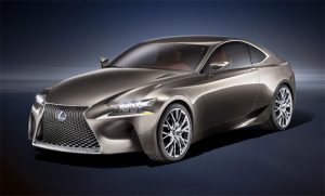 The Lexus LF-CC mid size coupe Concept will be unveiled at the Paris Motor Show