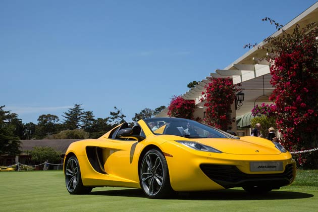 The stunning McLaren 12C Spider is set for its European debut, and first royal engagement, this weekend as it takes centre stage at the inaugural Windsor Concours of Elegance.