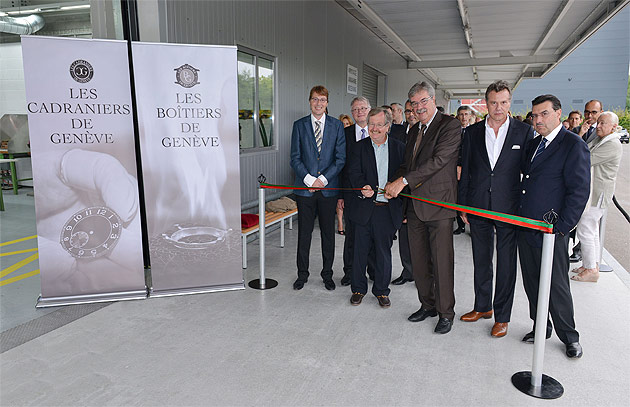The official inauguration of the Cadraniers de Genève and the Boîtiers de Genève took place last Tuesday at 18h00 in a common building located in the district of Meyrin, canton of Geneva, at 11 rue Emma Kammacher.
