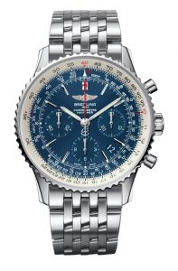 To mark the 60th anniversary of the Navitimer chronograph, the cult model among pilots and aviation enthusiasts, Breitling is introducing a 500-piece limited edition with an elegant dial in an exclusive shade of blue and aptly named the Navitimer Blue Sky.