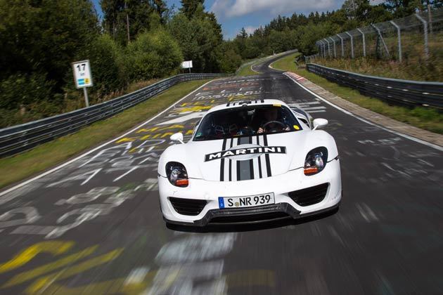 918 Spyder prototype turns in lap time of seven minutes and 14 seconds