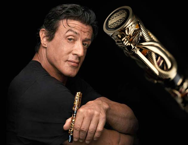 The Sylvester Stallone designed Montegrappa Chaos Pen, makes an appearance on The Tonight Show with Jay Leno.
