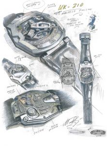 """""""The UR-210 embodies the symbiotic relationship between man and his watch. This quasi-biologic machine could reveal more about you than any other object in your possession,"""" explains Martin Frei."""
