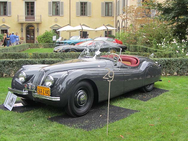 Ex-Clark Gable XK 120 Alloy Roadster honoured with 'Overall Best Restoration' at Concours in Italy