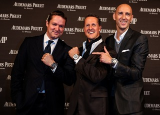 The Swiss Watch Manufacture from Le Brassus, Audemars Piguet, celebrated with Michael Schumacher and guests, the international unveiling of the limited edition Royal Oak Offshore Chronograph Michael Schumacher at the Kraftwerk building in Berlin.