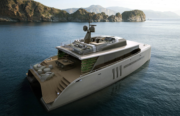Christian Grande introduces the 71 feet Picchio Boat. Designed for comfort with a respect for nature.
