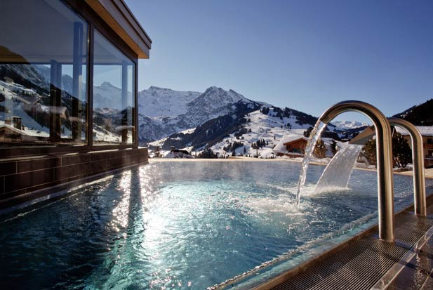 Guests will immediately feel the welcoming warmth at The Cambrian, located in the Swiss village of Adelboden. The hotel incorporates natural, local materials in its sleek, modern design, effortlessly reflecting the exterior, which adds to the purifying immensity of the mountains. Adelboden is one of Switzerland's premier ski destinations, with over 200 kilometres of ski trails. The hotel's 750 square metre spa, with its outdoor thermal pool deck, offers pristine views of the surrounding mountains.