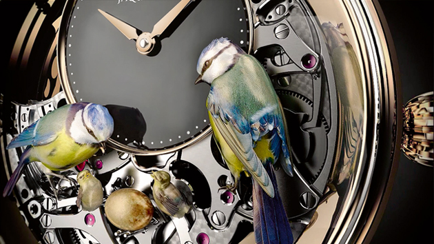 Beautiful, free and fascinating, birds captivated the age, and from the beginning of his career, the young watchmaker was to make this trend his own. For while Pierre Jaquet-Droz made his mark as a virtuoso of horological engineering, he was also an audacious businessman as well as an aesthete, in tune with the tastes of his time.
