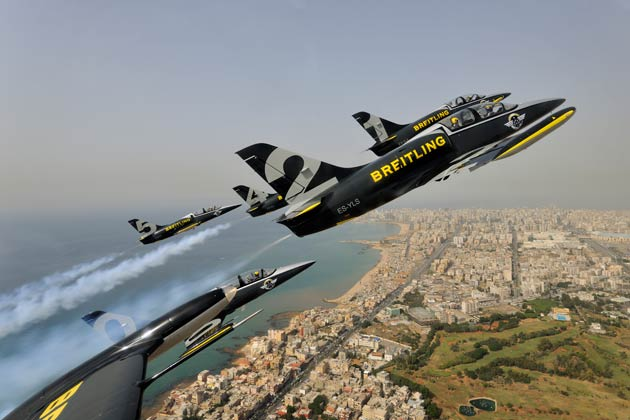 "The Breitling Jet Team, Breitling Wingwalkers and Yves ""Jetman"" Rossy are flying East for winter, to bring Breitling's passions for aviation to new audiences in what is being collectively called ""The Breitling Dragon Tour""."