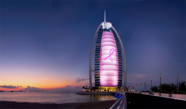 The Jumeirah Group's Burj Al Arab, the World's Most Luxurious Hotel in Dubai (UAE), is launching the Pinking Burj Al Arab campaign on 04 October, in support of Breast Cancer Awareness Month.