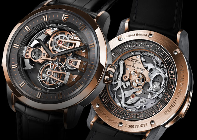 Christophe Claret presents the Soprano tourbillon minute repeater with four cathedral gongs