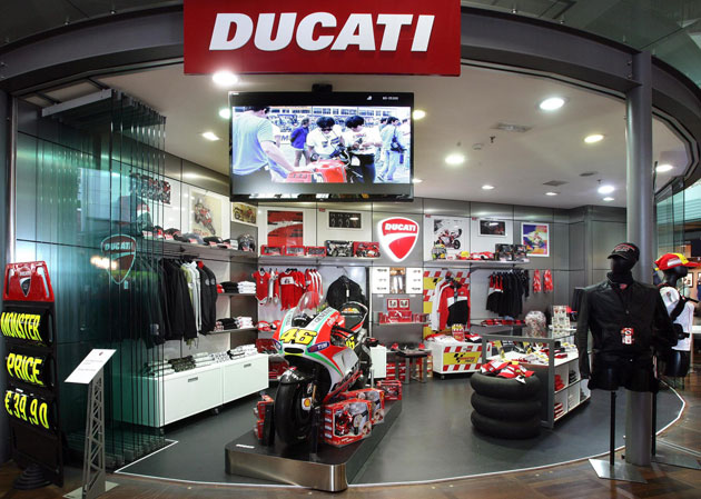 The Schengen area of Venice's International Marco Polo Airport recently saw the inauguration of the third Ducati Airport Shop, underlining the successful business relationship between Ducati and airport retail specialist, Meridian Duty Free.
