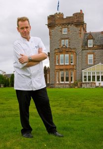 In his first year at The Isle of Eriska, head chef Simon McKenzie has already received this prestigious award maintain the restaurants high status with the three rosettes awarded.