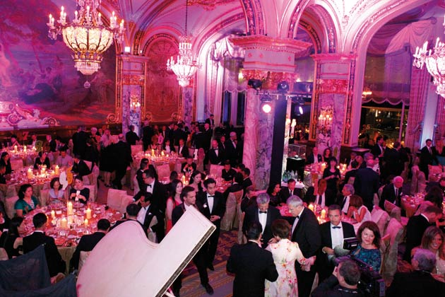 "For its gala evening, Franck Muller took over the illustrious Empire Room at the Hôtel de Paris in Monte Carlo, and as usual called on well-known stars to provide entertainment for this reception, attended by 500 hand-picked guests. Guests were enthralled by the skill of virtuoso pianist, Hayk Melikyan, as well as Dani Lary's amazing stunts with his 360° ""flying piano"" and a laser show put on by the Lumina violonists from London."