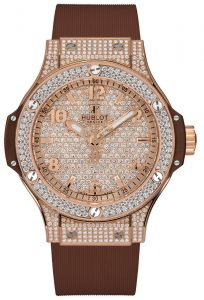 Made For Christmas: The Hublot Big Bang Gold White Full Pavé-Set Timepiece