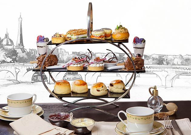 The 'I Love Paris' Tea Menu at Jumeirah Carlton Tower in partnership with Eric Lanlard.