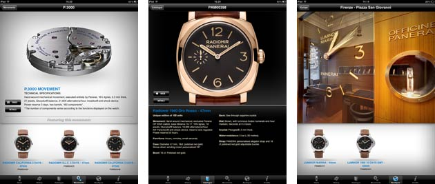 The Italian watchmaker, Officine Panerai, has launched interactive apps for the iPad and iPhone which are now available for free from the Apple Store.
