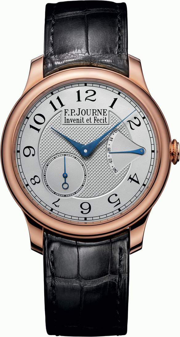 F.P.Journe is mastering the measurement of time with the Chronomètre Souverain, inspired by early 19th-century marine chronometry, which includes a twin-barrel movement in the classic configuration of precision watches. They work in parallel to deliver stable power for most of their 50-hour indicated reserve that counts hours used rather than remaining.