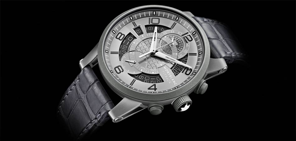 The Montblanc TimeWalker TwinFly Chronograph GreyTech Timepiece