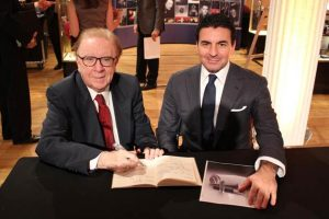 Richard Restak and Montegrappa's CEO Giuseppe Aquila at The Luxury Review