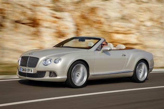The Bentley Continental GT Convertible wins Auto Trophy award for Imported Convertibles over 30,000 euros.