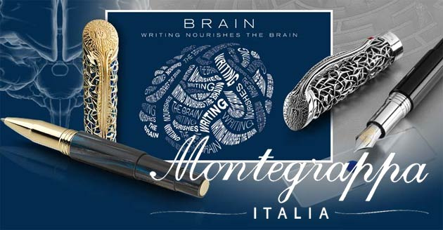 Montegrappa launch the amazing limited edition Brain Pen in collaboration with leading authority Dr. Richard Restak.