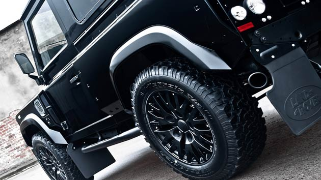 The compulsory branded rear wheel cover ensures the driving position is luxurious and remains more responsive in complicated conditions. Although it won't ever change its spots, Afzal Kahn has ensured the Kahn Defender concept 17 wide body exudes a certain charm which remains in harmony with both fashion and all things automotive