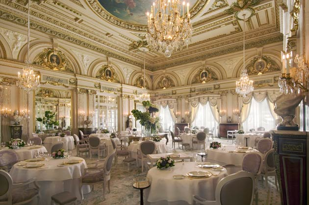 Le Louis VX-Alain Ducasse at Hôtel de Paris is the first restaurant in the Principality of Monaco, and the first hotel restaurant worldwide, to be awarded three Michelin stars.