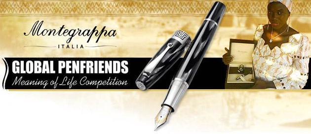 Montegrappa is pleased to announce that the winner of the 'Global Meaning Of Life' Competition organised by the Global Penfriends Internet Friends Club is the recipient of a beautiful Montegrappa Extra 1930 fountain pen in black & white celluloid with sterling silver trim.