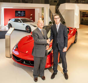 John Butt, Chairman of Meridien Modena with Matteo Torre