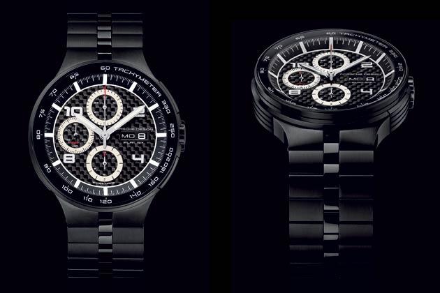 Porsche Design P'6360 Flat Six Automatic Chronograph: P'6360 Flat Six Automatic Chronograph 44 mm (reference 6360.43.04.0275)