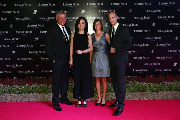(left to right) Darren Clarke, Audemars Piguet Brand Ambassador, Li Li, Country General Manager of Audemars Piguet Mainland China, Lee-Anne Pace, professional golfer and David von Gunten, CEO of Audemars Piguet (Hong Kong and Mainland China).