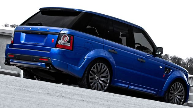 The Kahn Design Cosworth Range Rover in Bali Blue.