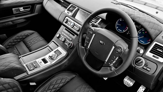 The 'bespoke touch' continues inside, where this particular model comes complete with door panel tops in quilted and perforated leather with silver stitching, as well as a clock bezel – billet with Swarovski diamonds. The cabin equally boasts a Cosworth speedo in blue, in addition to vented foot pedals in machined aluminium.