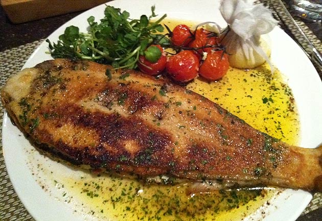 Whole fried fish and chips for Pan grilled fish