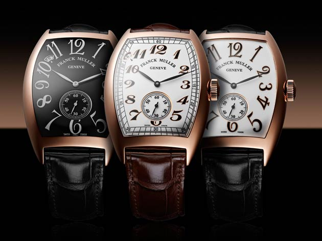 The new Franck Muller Vintage (Curvex) 7-Days Power Reserve wristwatch