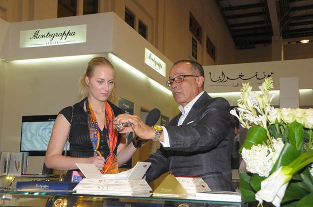 Always keen to support the jewellery industry and display their fine creations, Montegrappa, the luxury Italian brand went to the Bahrain Exhibition Centre to exhibit at Jewellery Arabia.