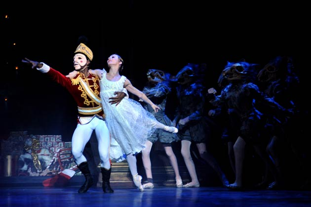 The Russian male star was awarded the title of lead principal by English National Ballet, in recognition of his exceptional dance ability. It was clearly evident throughout the performance, with his bold, boundless leaps of energy, smooth, faultless lines, sensational partnering work and his commanding stage presence. Lively scenes with the evil Mouse King will be sure to leave you enthralled.