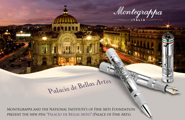 The Montegrappa Palace of Fine Arts Pen in conjunction with the National Institute of Fine Art Foundation.