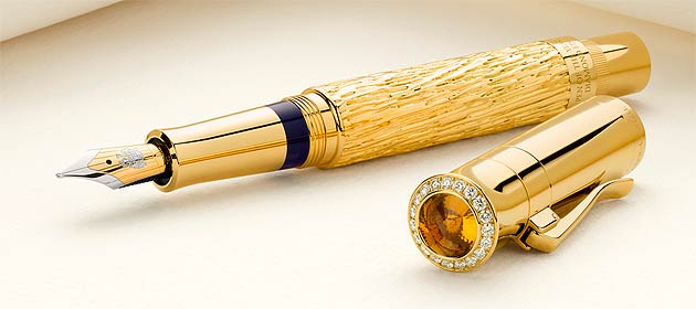 The Graf von Faber-Castell Diamond Encrusted Fountain Pen.